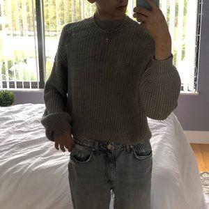F21 Cropped Knit Sweater